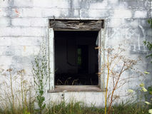 Покинутое окно гастронома Стоковое Изображение RF