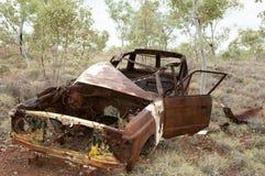 Покинутое ржавое автомобильное захолустье Австралия Стоковые Изображения