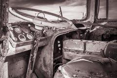 покинутое рулевое колесо Стоковые Изображения