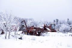 Покинутое сельскохозяйственное оборудование Стоковое фото RF