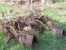 Покинутое сельскохозяйственное оборудование стоковая фотография rf