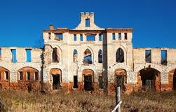 Покинутое средневековое поместье Стоковое Изображение RF