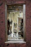 Покинутое строя окно в Tinton Вайоминге Стоковое Изображение