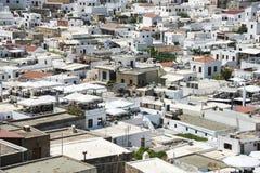 Покинутое lido на Родосе, Греции стоковая фотография rf