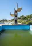 Покинутое lido на Родосе, Греции стоковое изображение