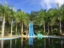 Покинутое waterpark сползает в Вьетнам Стоковые Фотографии RF