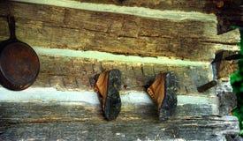 покинутые ботинки Стоковое фото RF