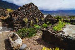 Покинутые дома в острове El Hierro Стоковые Фото