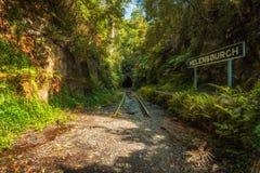 Покинутые железнодорожный вокзал и тоннель Helensburgh около Сиднея Стоковое Изображение RF