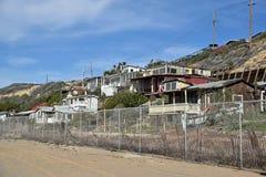 Покинутые исторические дома в парке штата бухты Crysal Стоковое Изображение