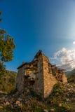 Покинутые дома в деревне Dyadovtsi, Болгарии Стоковые Изображения