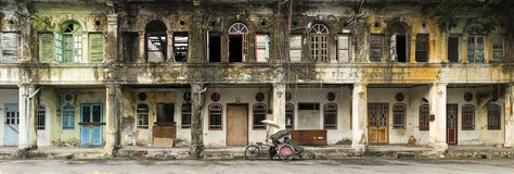 Покинутые дома наследия, городок Джордж, Penang, Малайзия Стоковые Изображения
