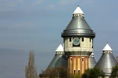 Покинутые старые башни газа Стоковые Фото