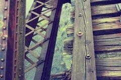 Покинутые следы поезда над водой Стоковые Фотографии RF