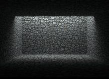 Покинутые укрытие, каменная стена и пол Стоковые Фотографии RF