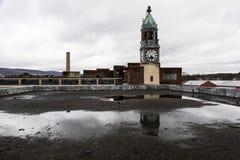 Покинутые фабрика шнурка и башня - Scranton, Пенсильвания стоковое фото