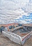 Покинутый автомобильный экологический портрет Стоковое фото RF