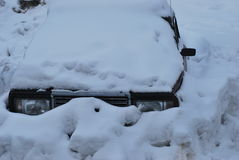 покинутый автомобиль Стоковые Фотографии RF