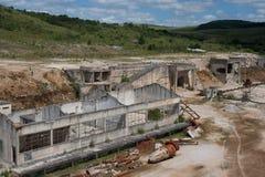 Покинутый взгляд шахты доломита далекий Стоковое Изображение RF