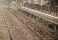 Покинутый вокзал ретро Стоковые Изображения