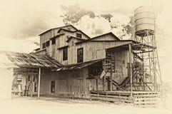 Покинутый волокноотделитель Burton, Техас Стоковые Фотографии RF