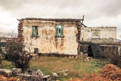 Покинутый городок в Ptolemaida Греции Стоковая Фотография