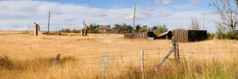 покинутый городок панорамы Стоковое фото RF