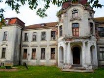 Покинутый дворец в Беларуси Стоковое Изображение RF