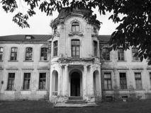Покинутый дворец в Беларуси Стоковая Фотография