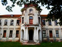 Покинутый дворец в Беларуси Стоковое фото RF