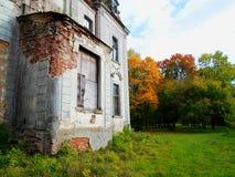 Покинутый дворец в Беларуси Стоковые Фотографии RF