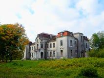 Покинутый дворец в Беларуси Стоковое Изображение