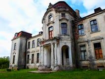 Покинутый дворец в Беларуси Стоковые Изображения RF