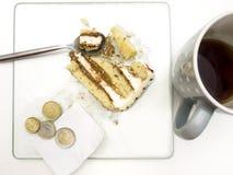 Покинутый десерт на таблице Стоковое Фото