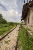 покинутый железнодорожный след Стоковые Фотографии RF