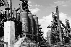 Покинутый завод Bethlehem Steel завода по изготовлению стали старый Стоковая Фотография