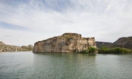 Покинутый замок (листовая капуста) Halfeti рома, Турция. Стоковые Изображения RF