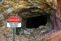 Покинутый золотодобывающий рудник Стоковая Фотография