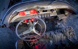 покинутый интерьер автомобиля стоковая фотография rf