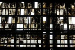 покинутый интерьер залы промышленный Стоковые Изображения RF