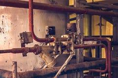 покинутый интерьер фабрики Стоковое Изображение