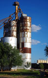 Покинутый лифт зерна в Clovis, Неш-Мексико Стоковые Изображения