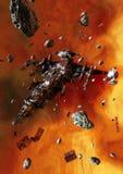 покинутый космический корабль бесплатная иллюстрация