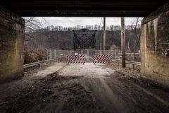 Покинутый мост ферменной конструкции Fallston - Пенсильвания Стоковая Фотография RF