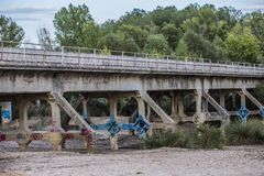 Покинутый мост Стоковое фото RF