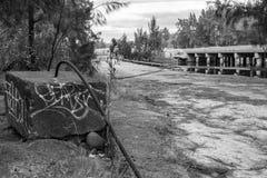 Покинутый мост Стоковые Фото