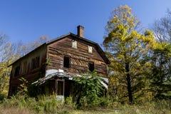 Покинутый дом в древесинах Стоковые Фотографии RF