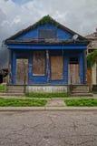 Покинутый дом Нового Орлеана Стоковые Фотографии RF