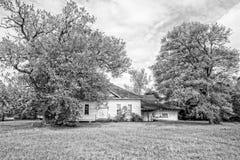 Покинутый дом школы Техаса Стоковые Фотографии RF