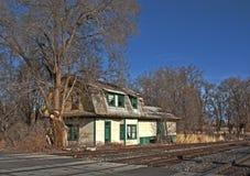 покинутый поезд станции Орегона hdr шлюза Стоковое Изображение